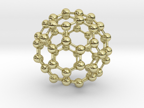 Buckyball C60 in 18K Gold Plated