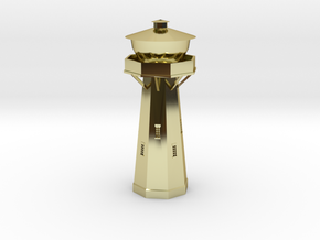 Z Scale European Water Tower in 18K Gold Plated