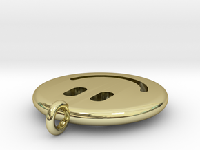Happy Face Emoticon Charm Smiley in 18K Gold Plated