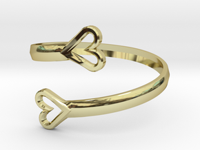 FLYHIGH: Open Hearts Bracelet in 18K Gold Plated