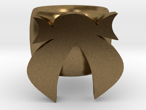 Bow Ring in Natural Bronze