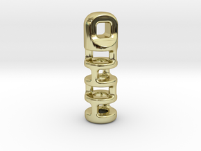 Tritium Lantern 3A (2x12mm Vial) in 18K Gold Plated