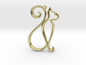 The Cat Pendant in 18K Gold Plated