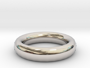 Thin Ring 20 x 20mm in Rhodium Plated