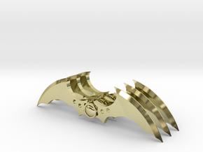Arkham Asylum Batarang (3 pieces bundle) in 18K Gold Plated