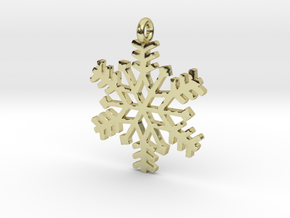 Snowflake Pendant in 18K Gold Plated