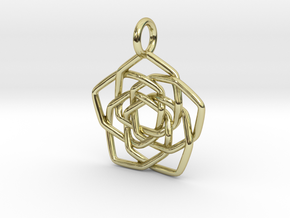 Discordian Mandala Pendant in 18K Gold Plated