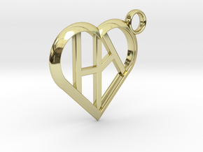 Heart of love keychain [customizable] in 18K Gold Plated