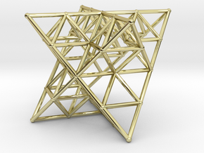 Rod Merkaba Lattice OpenBase - 6cm in 18K Gold Plated