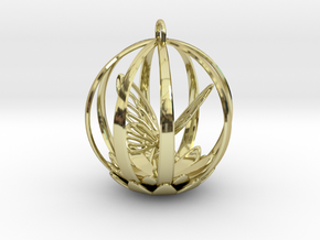 Butterfly Cage Pendant in 18K Gold Plated