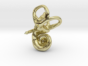 Inner Ear (Cochlea) Lapel Pin in 18K Gold Plated