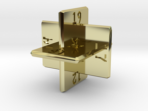 Planar d20 in 18K Gold Plated