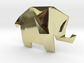 Origami Elephant  in 18K Gold Plated