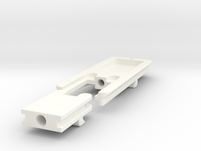 Arca-Swiss Style Plate with Horizontal Clamp in White Strong & Flexible Polished
