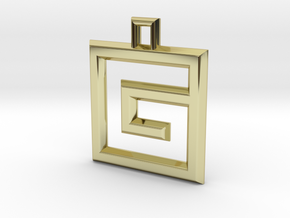 ABC Pendant - G Type - Wire - 24x24x3 mm in 18K Gold Plated