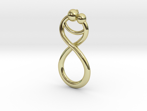 Infinite Embrace Pendant in 18K Gold Plated