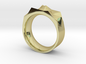 Triangulated Ring - 17mm in 18K Gold Plated
