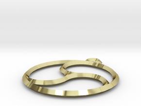 Trefoil Pendant in 18K Gold Plated