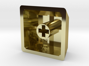 Blank Keycap (R3, 1x1) in 18K Gold Plated