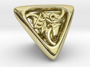 Tengwar Elvish D4 in 18K Gold Plated