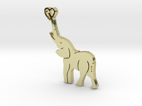 Tusks Pendant in 18K Gold Plated