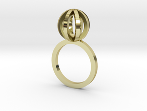 Sphere outlines ring in 18K Gold Plated