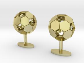 Soccer Cufflinks in 18K Gold Plated