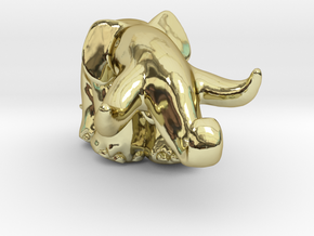 Oliphant 25 Mm W Shell And Holes in 18K Gold Plated