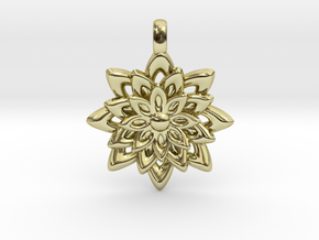 Lotus Flower Symbol Jewelry Necklace in 18K Gold Plated