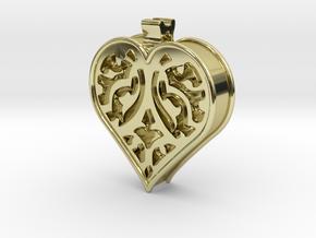 Window Heart in 18K Gold Plated
