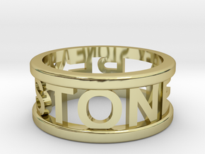 Name Ring in 18K Gold Plated