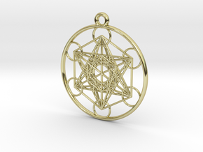 Metatrons Cube Pendant in 18K Gold Plated