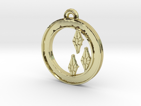 Rarity Cutie-mark Circle-pendant in 18K Gold Plated