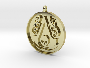 Assassin's Creed - Black Flag Medal Pendant in 18K Gold Plated