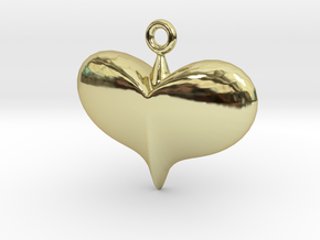 Lady Heart Pendant  in 18K Gold Plated