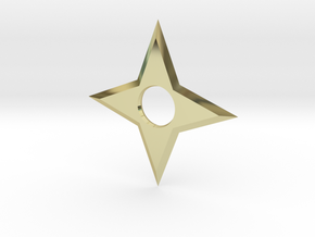 4 Point Ninja Star (shuriken) in 18K Gold Plated