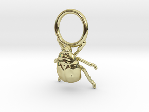 Super Tiny Gold Bug with Ring in 18K Gold Plated