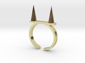 Pickle Fork Ring in 18K Gold Plated