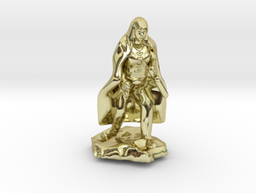 Halfling Rogue in Cape with two Daggers in 18K Gold Plated