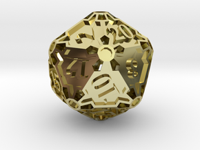 Large Premier d20 in 18K Gold Plated