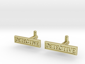 Detective Cufflinks (Style 2) Silver/Brass/Bronze in 18K Gold Plated
