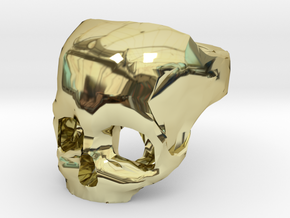 Skull Ring US 9 in 18K Gold Plated
