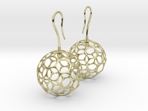 Fertilized Polyhedron Egg Earring in 18K Gold Plated