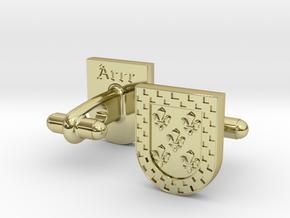 Heraldic Cufflinks (Arce) in 18K Gold Plated