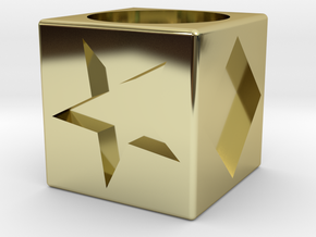 Polygon Dice in 18K Gold Plated