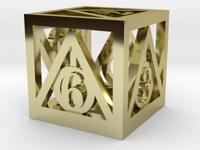 Deathly Hallows d6 in 18K Gold Plated