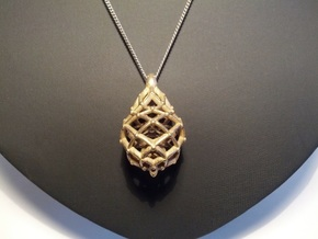 Celtic Weave Pendant in Natural Silver