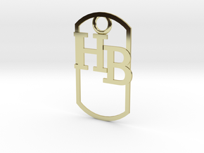 HB dog tag -- Hagerman Bobcats! in 18K Gold Plated
