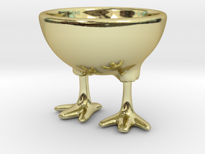 Feet Egg Cup in 18K Gold Plated