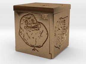 Meme Cube in Natural Brass